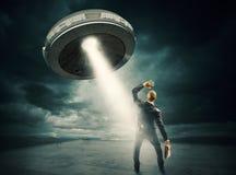 Navette spatiale d'UFO Photographie stock libre de droits