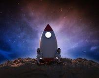 Navette spatiale dans l'espace illustration libre de droits