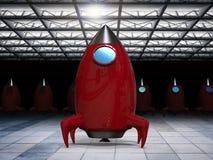 Navette spatiale dans le hangar image libre de droits