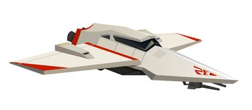 Navette spatiale ou bateau de vol pour les jeux et le mobile Technologie moderne de l'avenir L'espace l'explorant d'astronaute Ro illustration stock