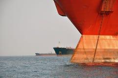 Navi all'ancoraggio Immagini Stock Libere da Diritti