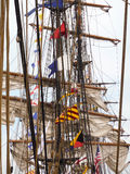 Navi alte allineate a porto Fotografia Stock Libera da Diritti