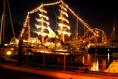 Navi alte Newport, Rhode Island Fotografia Stock