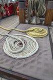 Navi che attrezzano le corde Fotografia Stock