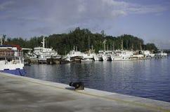 Navi che riposano al porto o al porto Immagine Stock Libera da Diritti