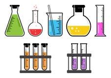 Navi chimiche dell'insieme variopinto Illustrazione di vettore illustrazione vettoriale