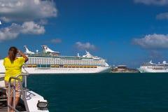 Navi da crociera in Bermude Fotografia Stock Libera da Diritti