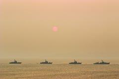 Navi da guerra Fotografie Stock