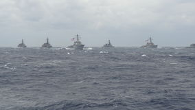 Navi da guerra navali Immagini Stock