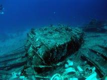 Navi del naufragio con carico delle tolette Fotografia Stock