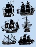 Navi del vento isolate Immagini Stock Libere da Diritti