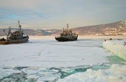 Navi dell'industria della pesca immagini stock
