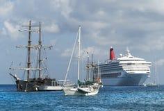Navi di Grand Cayman Fotografia Stock Libera da Diritti