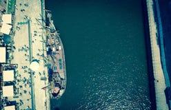 Navi di navigazione sull'acqua immagine stock libera da diritti