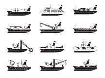Navi di passeggero e dell'annuncio pubblicitario royalty illustrazione gratis