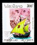 Navi di Piri Reis, di navigazione e serie delle mappe, circa 1992 Fotografie Stock Libere da Diritti