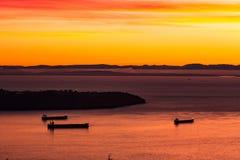Navi di tramonto Immagine Stock Libera da Diritti