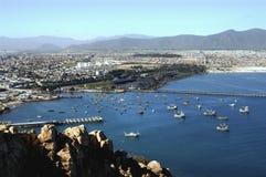 Navi e barche nel porto Immagini Stock Libere da Diritti