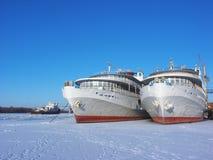 Navi in ghiaccio Immagini Stock