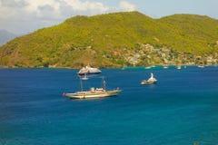 Navi lussuose nei Caraibi Fotografia Stock Libera da Diritti