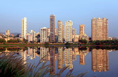 Navi Mumbai. India - 6 December 2015:  is planned suburb built across sea on main land to reduce Mumbai congestion stock photo