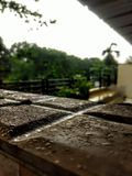 Navi mumbai october rains....... royalty free stock images