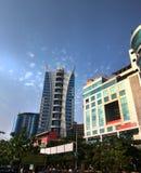Navi mumbai skyline metro city offices malls.  stock photo