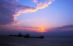 Navi nel mare Immagini Stock