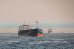 Navi nel mare Fotografie Stock Libere da Diritti