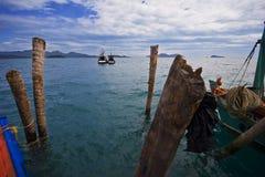 Navi nel mare Fotografia Stock