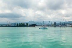 Navi nel porto di Batumi Georgia Immagine Stock Libera da Diritti