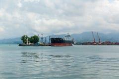 Navi nel porto di Batumi Georgia Fotografia Stock
