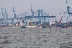 Navi a Northport, Klang, Malesia - serie 5 immagini stock
