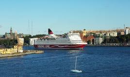Navi passeggeri a Stoccolma fotografia stock