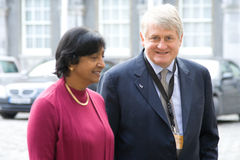 Navi Pillay  and Denis O'brien, Dublin Royalty Free Stock Photos