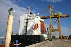 Navi porta-container Immagine Stock