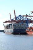 Navi porta-container in porto Fotografia Stock