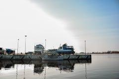 Navi in porto Immagine Stock
