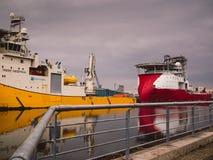 Navi standby di sicurezza della nave offshore Immagini Stock