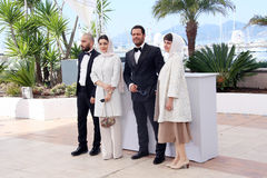 Navid Mohammadzadeh, Sareh Bayat, Pejman Bazeghi, and director Ida Panahandeh Stock Photography