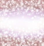 Navidad与雪花的冬天背景和您的拷贝空间 库存照片