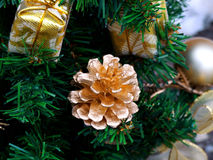 Navidad-árbol adornado Imágenes de archivo libres de regalías