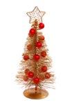 Navidad-árbol adornado aislado Fotos de archivo libres de regalías