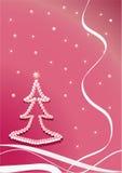 Navidad-árbol de la perla. Color de rosa Fotos de archivo libres de regalías