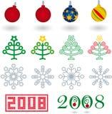 Navidad 01 (vettore) Fotografia Stock