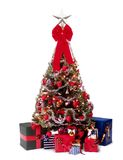 Navidad_a09d9651. Christmas tree with decorations, lights and gifts royalty free stock photo