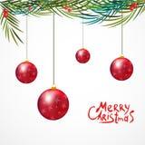Navidad brillante de las bolas de los círculos Venta Imágenes de archivo libres de regalías