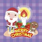 Navidad card-05 de la historieta Fotos de archivo