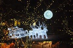 Navidad corriente de los renos Fotos de archivo libres de regalías