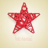 Navidad de Feliz, Feliz Natal no espanhol Foto de Stock Royalty Free